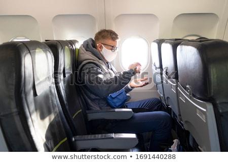 Ragazzo seduta aeromobili sede piano uomo Foto d'archivio © jossdiim