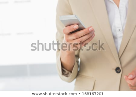 Mid section of well dressed Caucasian female executive standing with hands on hip in office Stock photo © wavebreak_media