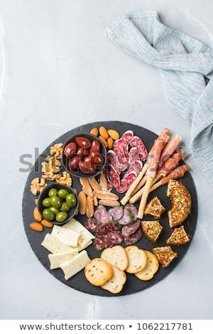 красочный закуски сыра продовольствие красный Рождества Сток-фото © BarbaraNeveu