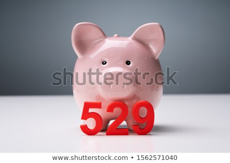 Piggy Bank And 529 College Saving Plan Over Table Stock photo © AndreyPopov