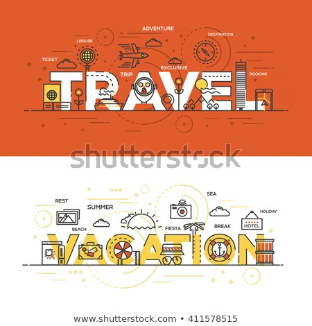 ベクトル · を · 旅行 · 計画 · 実例 - ストックフォト © decorwithme