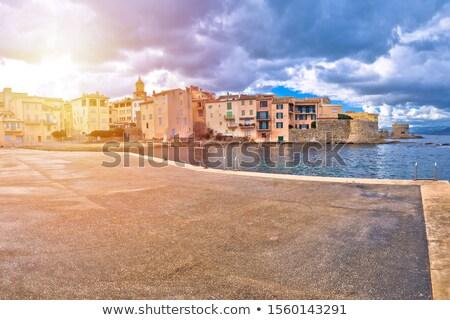 Saint Tropez. Scenic Saint Tropez waterfront sun haze view Stock photo © xbrchx