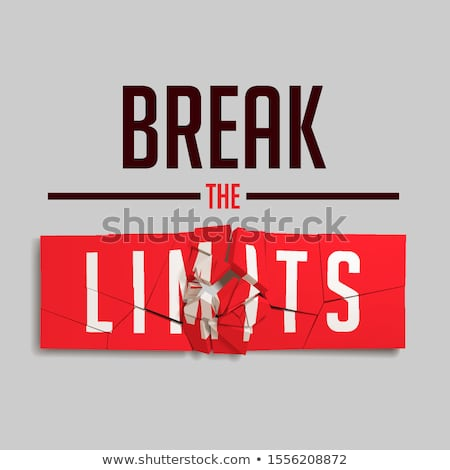 Break The Limits Slogan Red Broken Sign Illustration Foto stock © Tashatuvango