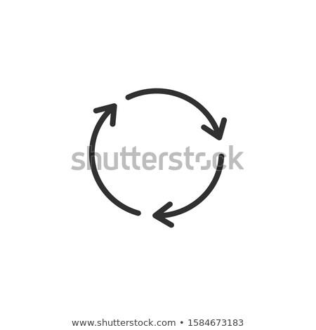 Három lineáris rotáció nyilak ikon stock Stock fotó © kyryloff