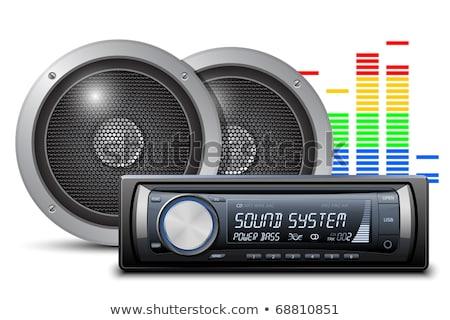 Voiture sonores musique technologie stéréo Electronics Photo stock © nomadsoul1