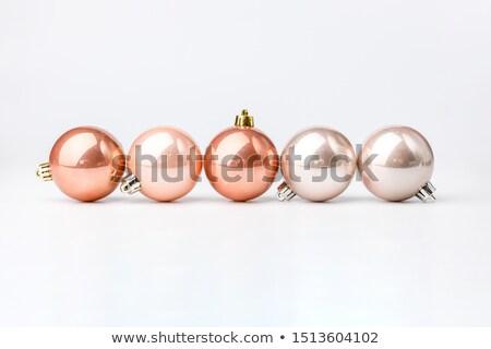 Pastel silver christmas balls isolated on white background. Photorealistic high quality vector set o Stock photo © ukasz_hampel