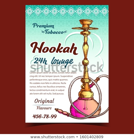 Hookah Lounge With Original Flavours Banner Vector Stock photo © pikepicture