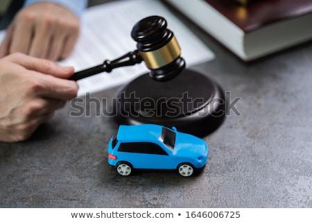 Auto Richter halten wenig rot Stock foto © AndreyPopov