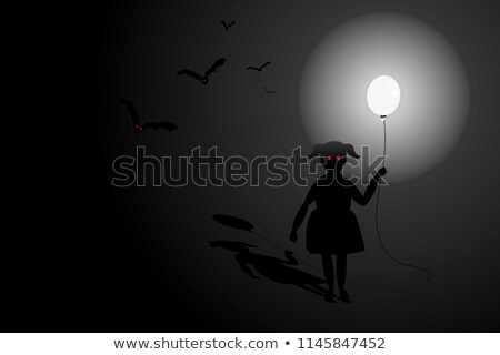 Scene with kids and bats in the cave Stock photo © bluering