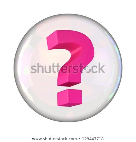 Kérdőjel átlátszó labda illusztráció golyók kérdések Stock fotó © silent47