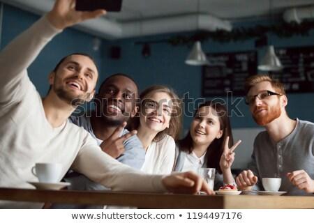 Znajomych Kafejka relaks kobiet restauracji Zdjęcia stock © robuart