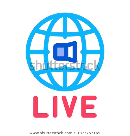 World Wide Live Podcast Icon Outline Illustration Stock photo © pikepicture
