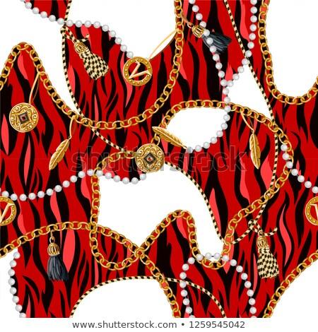 Leopar model dizayn kum renk komik Stok fotoğraf © Zsuskaa