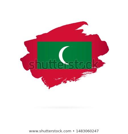 Maldive bandiera mano bianco mondo segno Foto d'archivio © butenkow