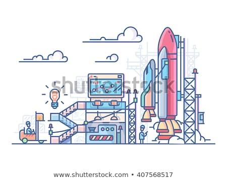 Startup rakéta indulás vektor metafora projekt Stock fotó © RAStudio