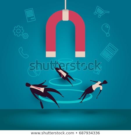 Figyelem attrakció vektor metafora fontos közlemény Stock fotó © RAStudio