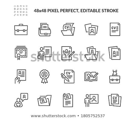 Folderze cv wektora izometryczny podpisania Zdjęcia stock © pikepicture