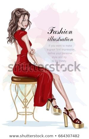 Long pretty woman legs Stock photo © Elmiko