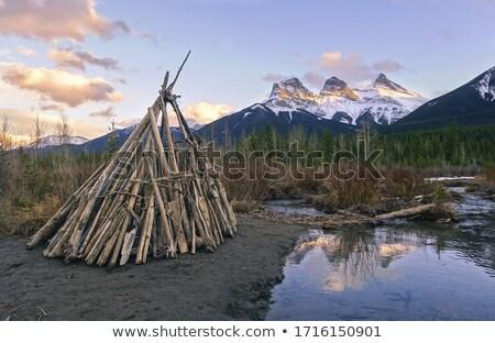 Teepee Frame Landscape Stock photo © SimpleFoto
