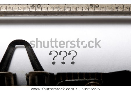 Typewriter QUESTION MARKS Stock photo © ivelin