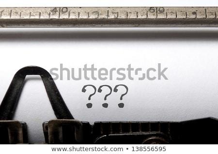 máquina · de · escrever · não · culpado · imagem · escrito · velho - foto stock © ivelin