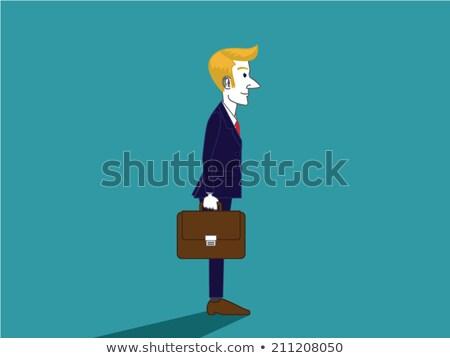 traje · stand · blanco · trabajo · cuerpo · empresario - foto stock © Paha_L