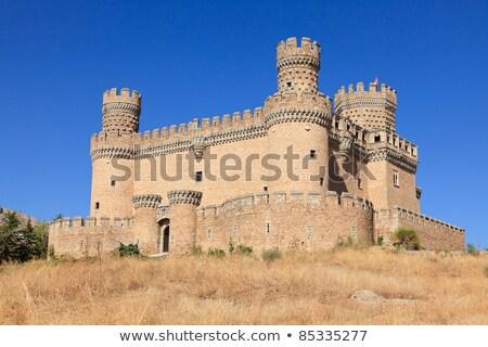 Castle Manzanares el Real, Spain. Built in the 15th century  Stock photo © Nobilior
