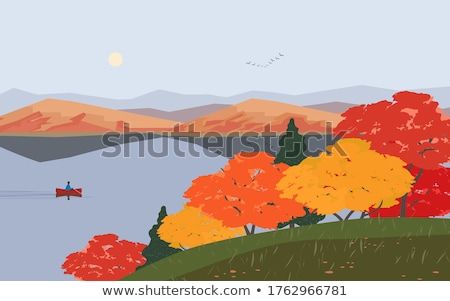 Outono cores montanhas grama folha fundo Foto stock © wjarek