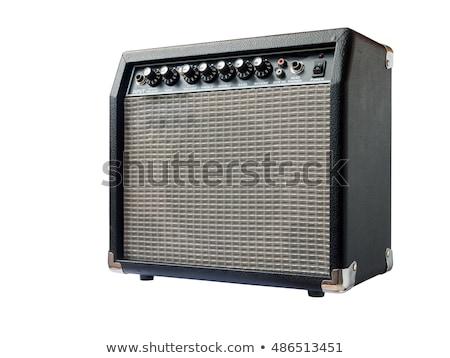 gitara · elektryczna · amp · Język · stylizowany · gitara · potężny - zdjęcia stock © lizard