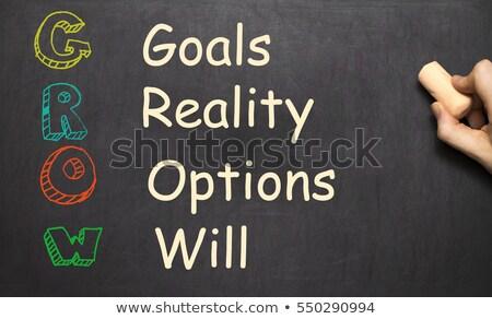 groeien · acroniem · betekenis · doelen · realiteit · opties - stockfoto © bbbar