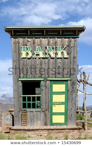 Vertical Image of An Old Wooden Shack in Utah Stock photo © pixelsnap