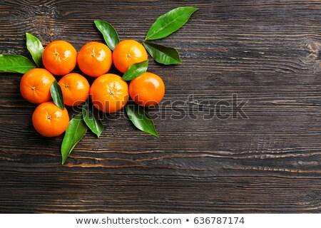 мандарин весны древесины лист фрукты Сток-фото © leungchopan