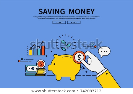 Pénz takarékosság biztosítás persely lánc lakat Stock fotó © vichie81