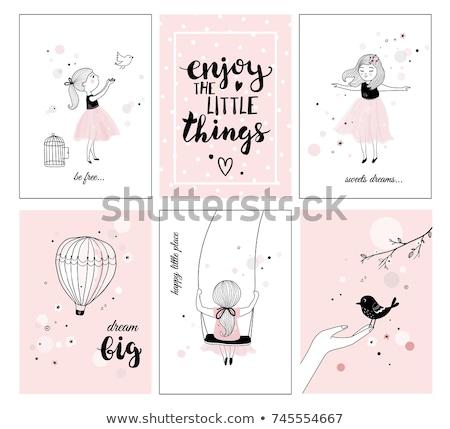 девочек плакат клуба театра коктейль черный Сток-фото © Galyna