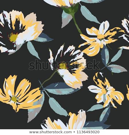 Abstrato flor fundo azul tecido padrão Foto stock © Galyna