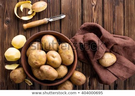картофеля картофель эмаль блюдо ткань таблице Сток-фото © HJpix