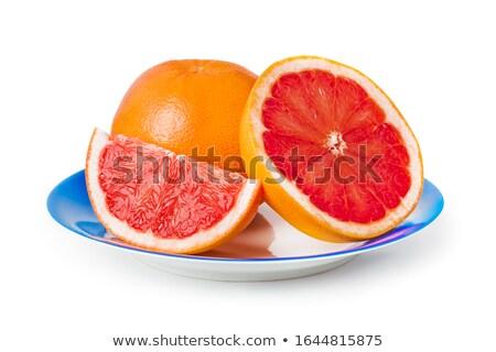 Three pomelo fruit on a white dish Stock photo © pinkblue