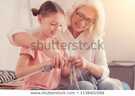 Knitting Grandmother and granddaughter Stock photo © photography33