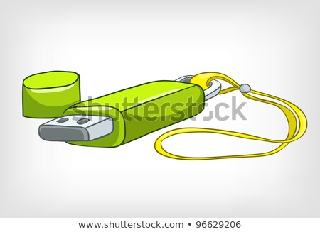 домой usb Stick Cartoon изолированный Сток-фото © RAStudio