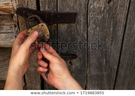 open old padlock Stock photo © prill
