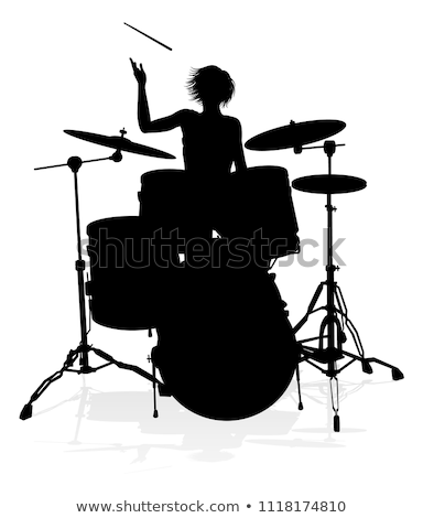 female, drummer Stock photo © photography33