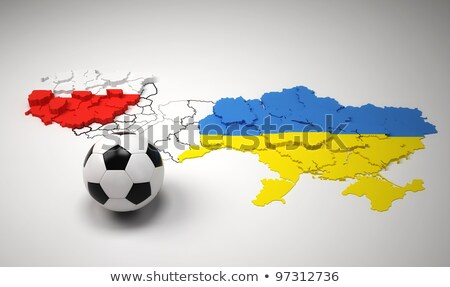 Euro 2012 Pologne Ukraine football championnat drapeaux Photo stock © RedKoala