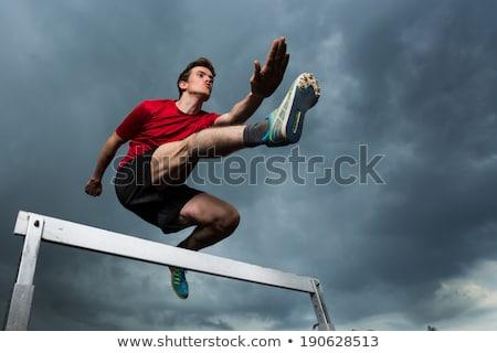 athlete hurdler stock photo © sahua