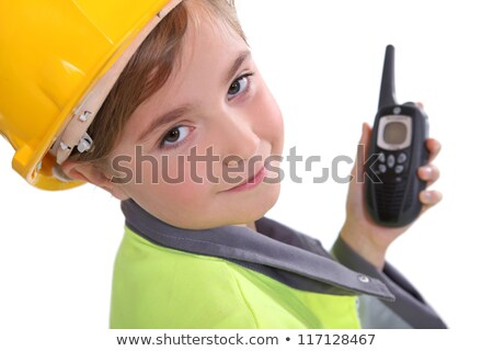 Young girl dressed up as a traffic warden Stock photo © photography33