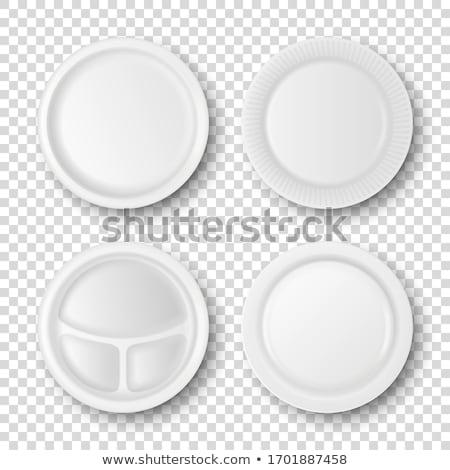 プラスチック 台所用品 孤立した 白 スペース ディナー ストックフォト © ozaiachin