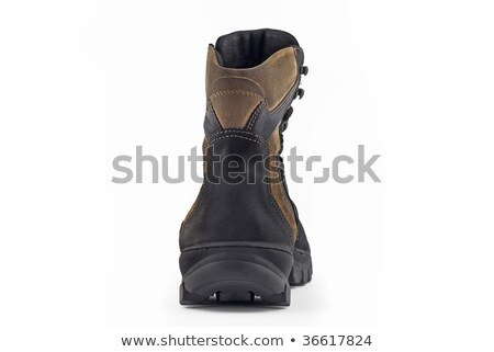 Rear Back View Of Warm Leather Boot Stok fotoğraf © Arsgera