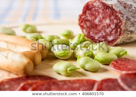 salami slices and fava bean Stock photo © Antonio-S