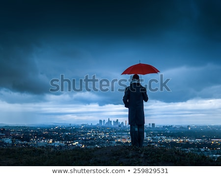 Hill under the cloudy sky stock photo © broker