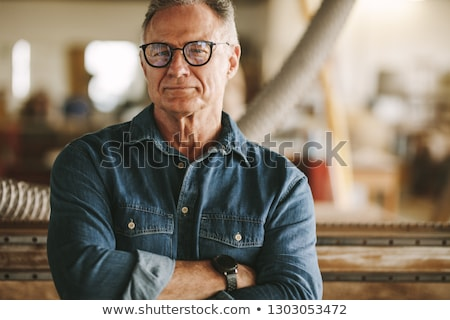 Real Construction Worker - Proud Stock photo © lisafx