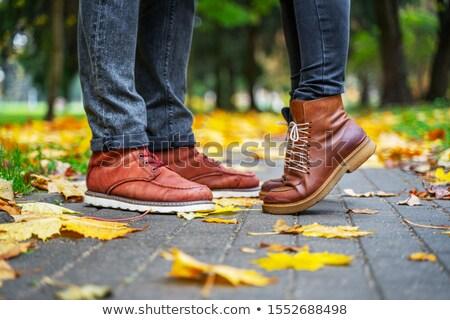 Ayak parmakları yakışıklı adam öpüşme sevmek seksi öpücük Stok fotoğraf © lisafx